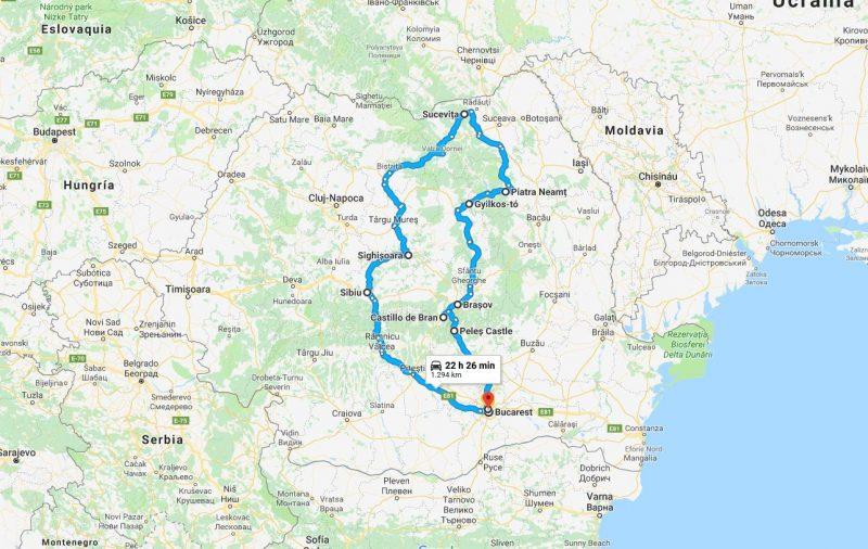 Map - Lo Mejor de Rumanía